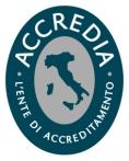 Il marchio di Accredia, l'ente di accreditamento