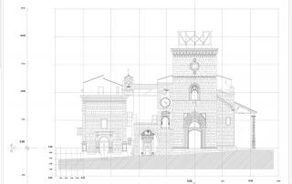 Schizzi del campanile di Guardiagrele