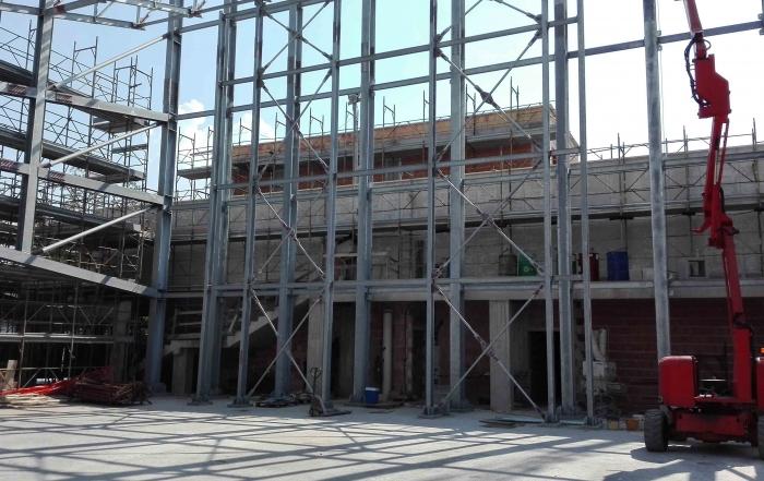 Struttura di un edificio in fase di costruzione