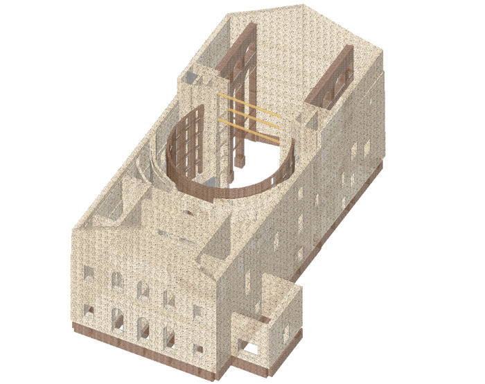 Model of the theatre in 3D