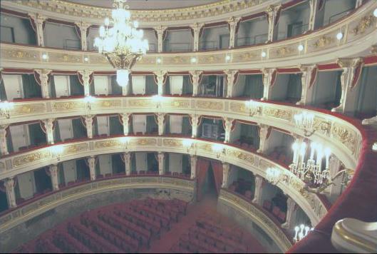 Rendering della sala interna del teatro