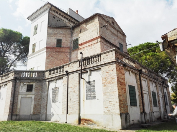 Vista trasera de la villa
